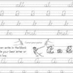 Beginner Cursive Letter Examples