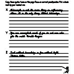 Cursive Worksheet - Advanced Level Example