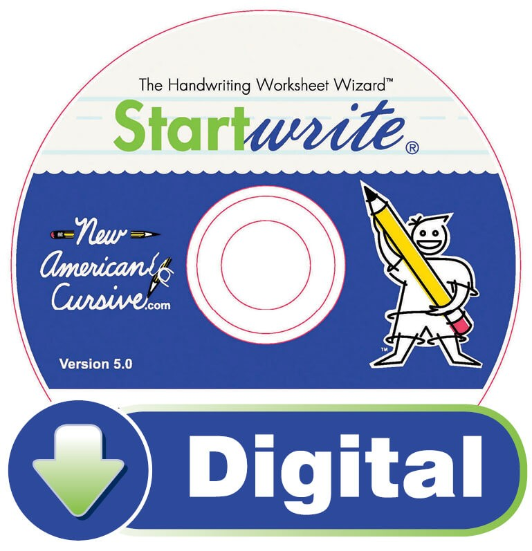 StartWrite/NAC Software (PC Only) - Cursive Worksheets